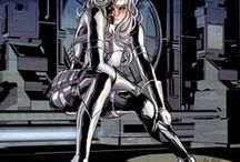 Silver Sable | Silver Sablinova / Silver Sablinova aka Silver Sable | Symkarian ruler and leader of a band of mercenaries known as the Wild Pack. More recently she has allied herself with Misty Knight, Paladin and the Heroes for Hire operation.  #Marvel