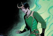 Hela & Loki Laufeyson / Lady Loki / Loki Laufeyson aka Loki and his alleged daughter Hela || Hela is the Norse Goddess of Death and ruler of Hel and Niffleheim. ★ Loki is Jötunn/Asgardian God of Mischief and Prince of Lies. ★ Loki was reborn as a human form and imprisoned by Balder to prevent Thor from restoring Asgard. He was reborn as a female, inhabiting the body of Sif, Thor's true love.