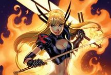 Magik | Illyana Rasputina / Illyana Rasputina aka Magik is the younger sister of Colossus. She is a mutant teleporter, a sorceress, and the former Sorceress Supreme and Queen of Limbo, who is currently a member of Cyclops' team of rebel mutants and a teacher at the New Charles Xavier School for Mutants. #Marvel