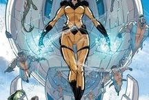 Crystal / Crystalia Amaquelin aka Crystal is a member of the Inhumans and the younger sister of Medusa, Queen of the Inhumans. She has the power to manipulate the four classical elements of Air, Fire, Water and Earth.