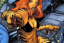 Tigra | Greer Nelson / Greer Nelson (née Grant) aka Tigra possesses tiger-like abilities to match her tiger-like appearance. She has razor-sharp retractable claws on her hands and her feet, which are strong enough to cut through steel. She possesses heightened senses and night vision. Class-10 super-strength, allowing her to to lift up to 10 tons under normal conditions.  #Marvel