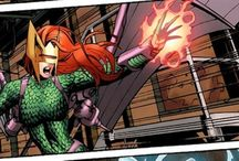 Dragoness | Tamara Kurtz / Dragoness is a mutant with the ability to generate bio-electric blasts which appear as pyrotechnic flames. She is able to fly thanks to artificial wings that she wears on her suit coupled with a jetpack powered by her electrical generation.  #Marvel