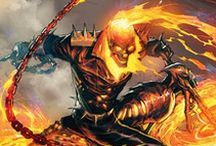 Ghost Rider | Johnny Blaze & Robbie Reyes / In human form, Johnny does not possesses any super-human power. But, as the Ghost Rider, he's the supernatural combination between human host and experienced motorcyclist Johnny Blaze and the demonic Zarathos. As the Ghost Rider, Johnny Blaze possesses a variety of supernatural powers. ★ Ghost Riders: Dan Ketch, Johnny Blaze, Alejandra Jones.. #Marvel