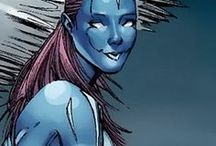 Transonic | Laurie Tromette / Her powers include: superhuman speed, flight, lights bonding, shifting crystal skin; Transonic has blue crystalline/scaly skin that possesses reactive properties that change her physical form to grant enhanced maneuverability and/or speed.   #Marvel