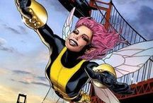 Pixie | Megan Gwynn / Pixie is a fairy-winged mutant who can cause those exposed to her dust to experience hallucinations. Magik forged a fragment of her soul into a dagger which can disrupt magic and mystical beings. Pixie is a teleporter by means of a teleportation spell. She is a member of the X-men. #Marvel