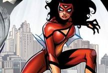 Spider-Woman | Jessica Drew / Jessica Drew was genetically enhanced and given super-powers by the criminal organization HYDRA, for whom she became an assassin as Spider-Woman. She later reformed and became a SHIELD agent and is currently a member of the Avengers and an Agent of SWORD. #Marvel