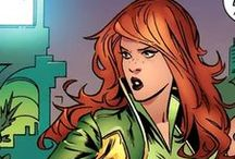 Siryn / Banshee / Morrigan | Theresa Cassidy / Theresa Maeve Rourke Cassidy is a mutant with sonic-based powers inherited from her father, Sean Cassidy a.k.a. Banshee. In honor and memory of her father, she took the name of Banshee. Siryn can create a sonic scream, and these screams are powerful enough to shatter glass, knock people out and apparently, destroy a city block.#Marvel
