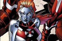 Mercury | Cessily Kincaid / A former member of the Hellions training squad, Mercury was a junior member of the X-Men. Her mutant power transformed her entire body into living liquid metal. Although continually struggling to accept her mutant form, she has made strong friendships with other young mutants under the X-Men's care. She is currently enrolled at the Jean Grey School for Higher Learning. #Marvel