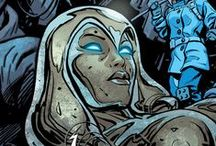 Jocasta | Jocasta Vi Quitéria / Jocasta was created by the evil robotUltronto be his mate. Once the Bride of Ultron, Jocasta has become an honorary member of the Avengers after years of loyalty and sacrifice. She had until most recently held a position at The Avengers Academy.