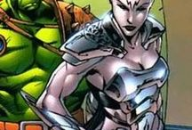 Caiera the Oldstrong | Caiera / Former slave to the Red King, she worked her way up to becoming the Lieutenant of his army. Eventually she turned on the King and allied with the Hulk. The two eventually married and she died pregnant with her twin sons of Hulk, Skaar and Hiro-Kala. #Marvel