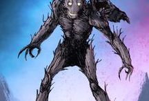 Groot / Groot is an extraterrestrial, sentient tree-like creature, and the monarch of Planet X. He is a founding member of Star-Lord's Guardians of the Galaxy, and is known for his longtime friendship with Rocket Raccoon. I AM GROOT!!!   #Marvel