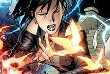 Nico Minoru / The daughter of Robert & Tina Minoru who was the unofficial leader of the Runaways. She possesses the Staff of One, a mystical artifact that allows her to cast amazing spells. However, a specific spell effect or manifestation can only be invoked once. Attempting to evoke the same effect results in random, often useless, effects. She has occasionally used minor magic, such as conjuring a small image, without using the staff. #Marvel