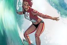 Loa | Alani Ryan / Loa is a mutant with the ability to dissolve the molecular bonds of anything she touches. She also gained the ability to breathe underwater from an Atlantean Amulet that her grandmother obtained from her friend who was Namor's old girlfriend. Unfortunately for Loa, she can no longer breathe normal air. #Marvel