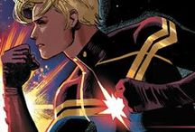 Captain Marvel / Ms. Marvel | Carol Danvers / Carol Susan Jane Danvers. Aka Binary, Warbird, Ms. Marvel... After encountering the Kree hero Captain Marvel, Carol Danvers was accidentally subjected to otherworldly radiation that transformed her into a superhuman warrior. Calling herself Ms. Marvel, she established herself as one of Marvel's most powerful and prominent heroes, both as a solo heroine and as a member of the Avengers. She has now adopted the mantle of Captain Marvel for herself. #Marvel