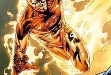 Human Torch | Johnny Storm / Jonathan Lowell Spencer Storm. The second most powerful member of the Fantastic Four and the brother of Sue Richards. Due to an accident caused by cosmic radiation in space, he can manipulate fire, turn his entire body into it and fly. #Marvel