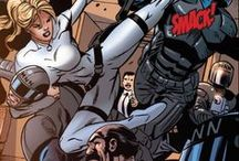 Agent 13 | Sharon Carter / Inspired by the tales of Captain America and her aunt Margaret, Sharon Carter decided to become an agent of S.H.I.E.L.D. Forced through mind control to kill Steve Rogers, Sharon decided to leave S.H.I.E.L.D. and instead assist the Avengers. #marvel