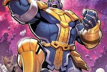 Thanos / Thanos is a mutant Eternal with the Deviant gene. Making him unique and extremely powerful, even amongst his own kind. Thanos loves and worships Mistress Death, the entitity of Death in the Marvel Universe, above all else. Very few can equal his intelligence, strength or ambition for power. Thanos has wielded the Cosmic Cube, the Infinity Gauntlet, and the Heart of the Universe above all else. #Marvel