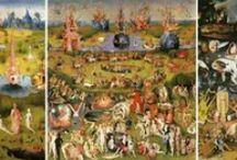 Jérôme Bosch - Le Jardin des délices - 1503 / Le Jardin des délices est un triptyque du peintre néerlandais Jérôme Bosch réalisé entre 1503 et 1504 et conservé au musée du Prado à Madrid.