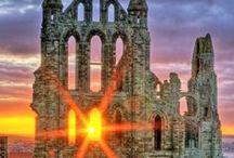 abbey, castle, ruins