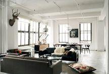 Loft living / My kind of home. Collection of ideas I want to implement in my loft. Still looking for the ideal property in Durban...wish me luck.