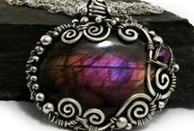 wire wrap cabochon, undrilled stones