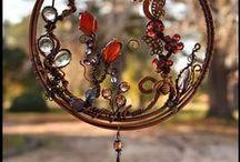 wire ornaments, suncatchers