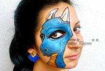 Face painting: Dinosauri/Draghi/Rettili