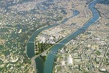 Projet urbain d'exception / Lyon Confluence, c'est 150 hectares au coeur de Lyon, entre Rhône et Saône. Ambition du projet urbain : doubler le centre-ville dans le respect du plan climat. #lyonconfluence #laconfluence #urbanisme #villedurable #villeintelligente #aménagementurbain