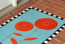 floor cloths / how to and pattern ideas for canvas floor cloths / by rUth j-MAc