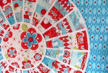 Red and Turquoise Quilts