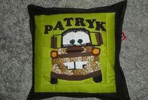 szycie  - sewing / pillows, paper piecing, patchwork, mosaic pillows