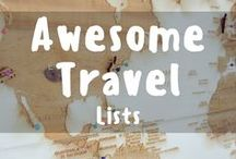 Awesome Travel Lists / Need some travel inspiration? Here's a complete list of all things travel related! Check out where your next travel destination will take you!  Pinning and repinning all the awesome travel guides that everybody should check out! To join the group please check out www.facebook.com/followingjesse/. Please only pin vertical images. Pins that are unrelated or spam will be removed from the board :)