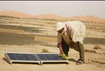 Développement durable / Nos actions pour le développement durable : installation de panneaux photovoltaïques, forages de puits, installations de pompes à eau solaires...