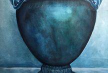 Le cratère de Vix , 40x50 aqwarella / Le cratère de Vix -  Milena Moneva 2015, aqwarella 40x50