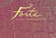 Chocolate Bars - Forte LIne / The Forte line presents pure chocolate at its finest, occasionally amplified here and there with cherished classic flavors such as orange or espresso.
