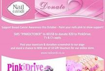 "PinkOctober Campaign / In support of Breast Cancer Awareness this October, NailCandi® & PINKDRIVE is running their annual ""PinkOctober"" Campaign."