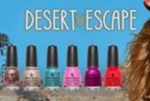 China Glaze Desert Escape Collection / China Glaze's Desert Escape Collection featuring 6 new polishes - 4 of which are cremes and 2 of them are gorgeous shimmer polishes.