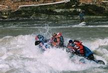 Raftin' - Cattaraugus Creek / Class II/III+ whitewater thrills through the Zoar Valley State Forest Preserve.