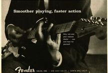 """Stratocaster Advertisements / The Stratocaster Ads made by Fender from 1954. From the famous """"You won't part with yours either"""" series by Bob Perine, through  the CBS ads to  the modern ones."""