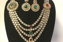 Indian Traditional and Fashion Jewelry / Accent your outfit or emphasize your style preferences with a jewelry ensemble. These jewelry sets allow you to coordinate colors or create eye-catching contrast as you accessorize for a special occasion.  Bracelet, anklet, ring, necklace & necklace sets, fashion jewelry etc