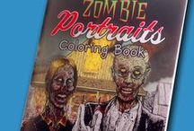 Obscure Brand Coloring Books / My Zombie Portrait Coloring Book. Digital downloads & physical copies available at http://etsy.me/28LPshM