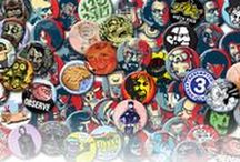 Obscure Brand Buttons / I make all kindsa buttons. Here are some I'm selling on Etsy. http://etsy.me/28LPshM