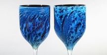 Goblets and Tumblers / Josh was originally known for the goblets he made, well before Planets and other worldly inspired sculptures.  Great to share these beautiful and unique glass Goblets and Tumblers by Josh.