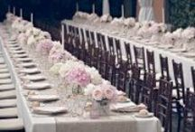 Setting the Table / Table numbers, centerpieces, runners, place settings - all things found at every wedding but also things that can be customized to fit your theme, color palette, season and personal vibe.  Make them your own. #engaged #wedding #planestry