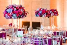 Centerpieces / They range from simple and small to grand and elaborate - when deciding on how to decorate the center of your tables, the options are endless. #engaged #wedding #planestry