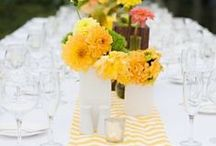 Sunshine & YELLOW / If you're looking to make a statement - a bold and bright yellow is definitely the way to go!  The awesome thing about yellow is that used in its pastel shade, it creates a soft, romantic beauty that pairs well with grey, blue or pink! #engaged #wedding #planestry