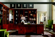 Desideri Collection The Presidential Study  / The elements of this Presidential Study are steeped with this distinct signature;  the impressive bookcase with alternating open and closed doors, or the regal desk, which gives the room the fascination of great contemporary history. Extremely striking pieces, yet at the same time versatile and functional in the way the spaces are organised.