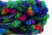 spinning yarn / すてきな毛糸 アートな毛糸 びっくりな毛糸 きれいな毛糸 いろいろな毛糸達!