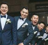 7 Groomsmen Looks for a Hotel Ballroom Wedding / ...Famous looks for Groomsmen in a Hotel Ballroom Wedding...