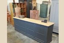 industriele Kasten  /  industriële meubels mooie oude kasten